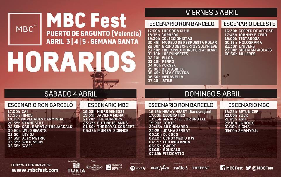 Horarios MBC Fest