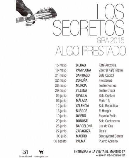 Conciertos Los Secretos en 2015