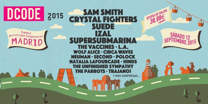 Dcode 2015 - Avance cartel con Sam Smith, Suede, IZAL...