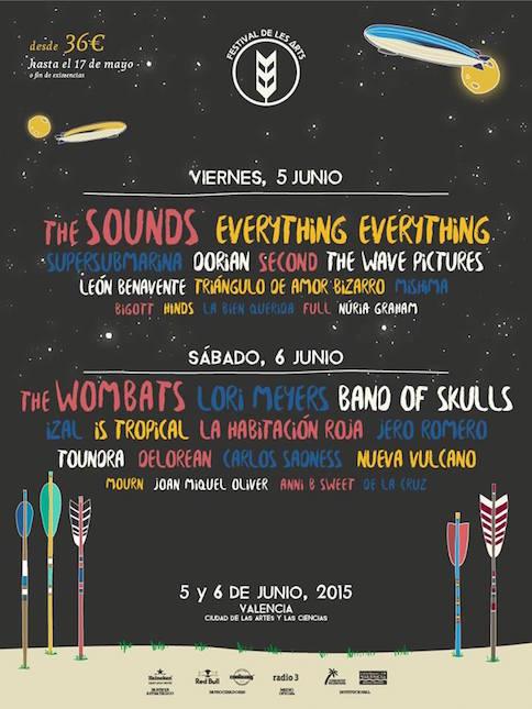 Festival De Les Arts - Cartel por días