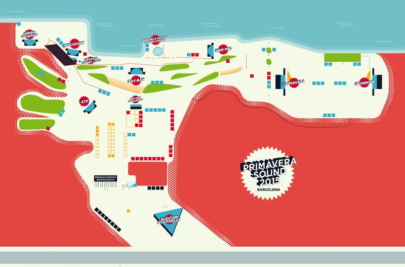 Mapa Primavera Sound 2015