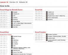 Horarios Sónar 2015 - Jueves