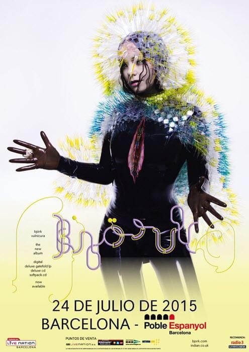 Concierto de Björk en Barcelona, el 24 de julio