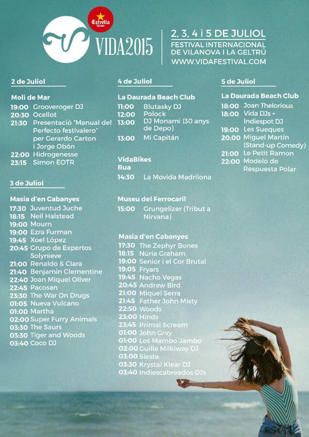 Horarios VIDA Festival 2015