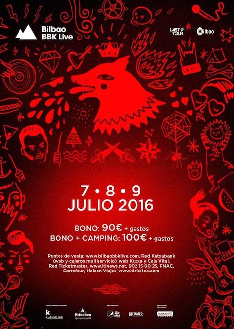 Bilbao BBK Live 2016 - Cartel previo