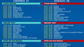 Horarios DreamBeach Villaricos 2015