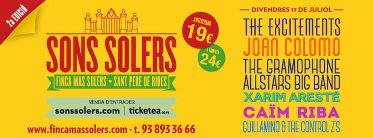 Son Soler Festival 2015 - Cartel