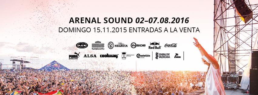Arenal Sound 2016 - Venta entradas