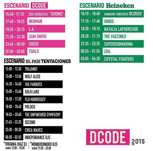 Horarios DCode 2015