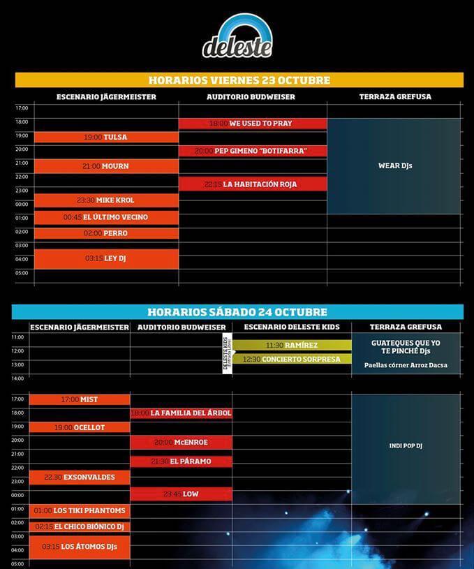 Horarios Deleste Festival 2015