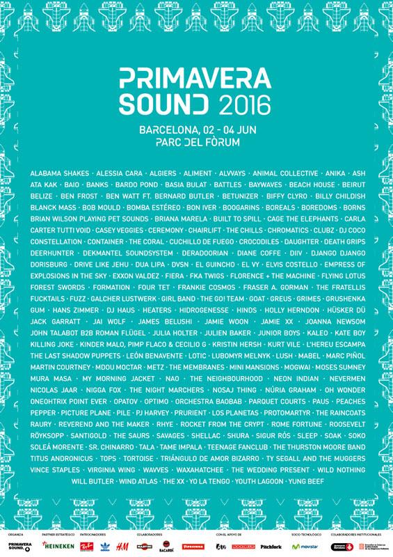 Cartel Fake Primavera Sound 2016