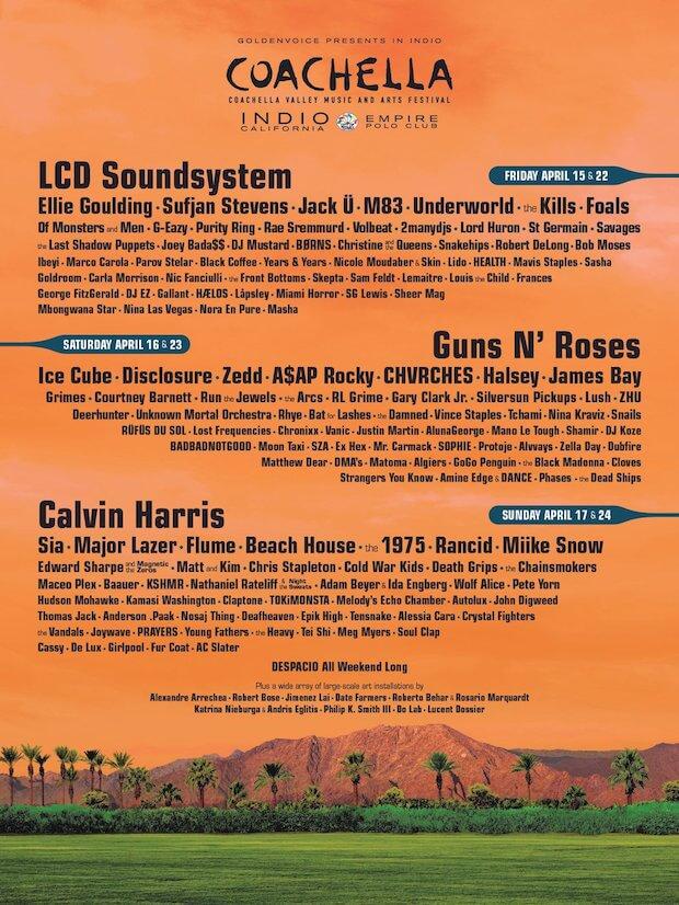 Coachella 2016 - Cartel