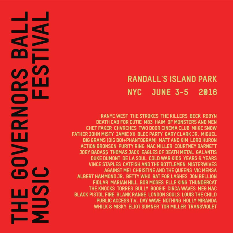The Governors Ball Festival 2016