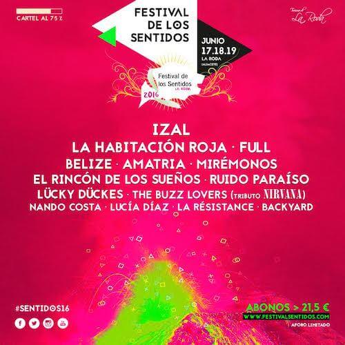 Festival de los Sentidos 2016 - Cartel