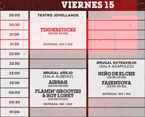 Gijón Sound Festival 2016 - Horarios Viernes