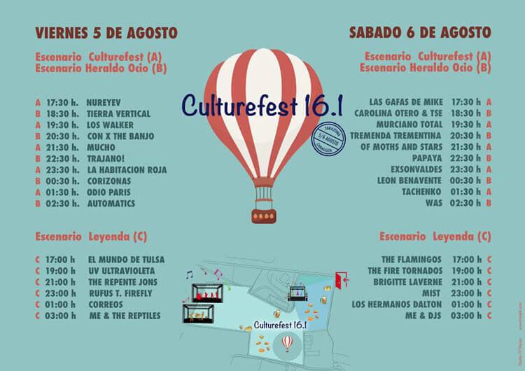 Horarios CultureFest 2016