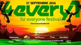 4Every1 Festival 2016 anuncia su cartel para Getafe