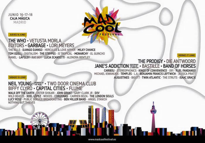 Mad Cool Festival - Cartel por días