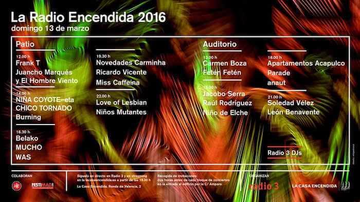Radio Encendida 2016 - Horarios