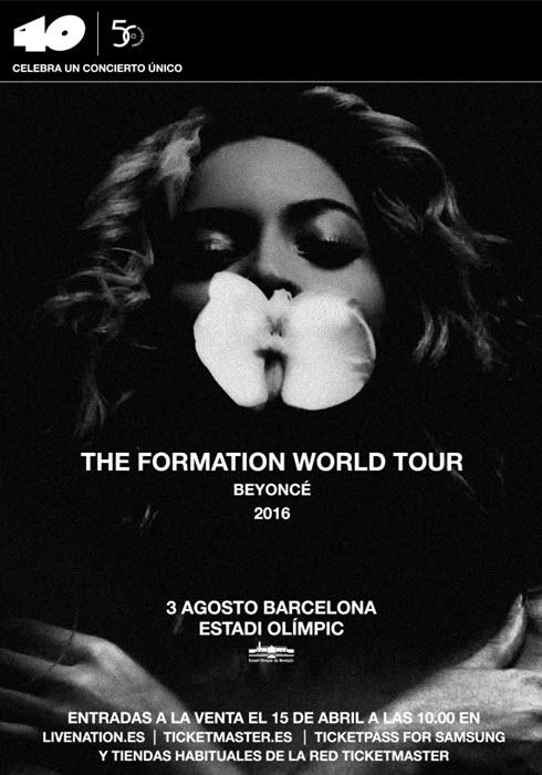 Concierto de Beyoncé en Barcelona 2016