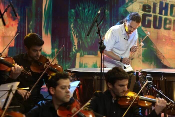 Pablo Iglesias toca la canción de 'Juego de Tronos' en El Hormiguero