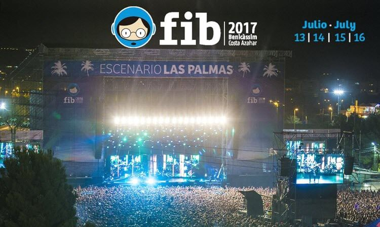 FIB 2017 Benicàssim - Fechas