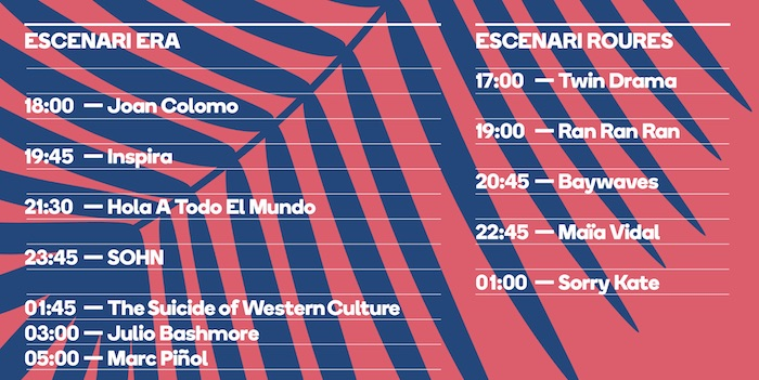 Horarios Festival'Era 2016