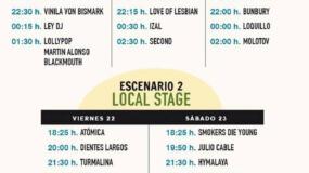 Horarios del No Sin Música Festival 2016