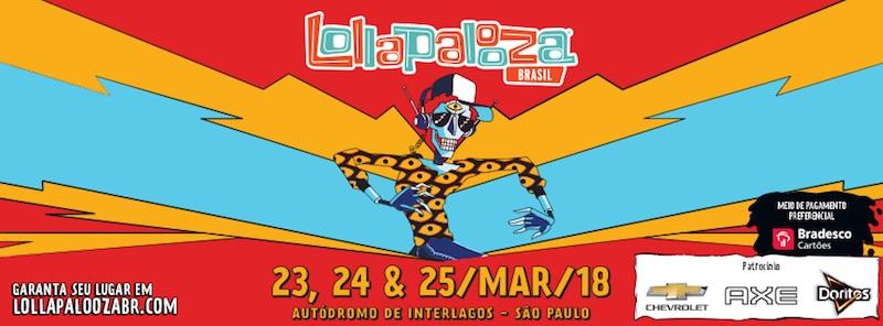 Lollapalooza Brasil 2018 - Cartel