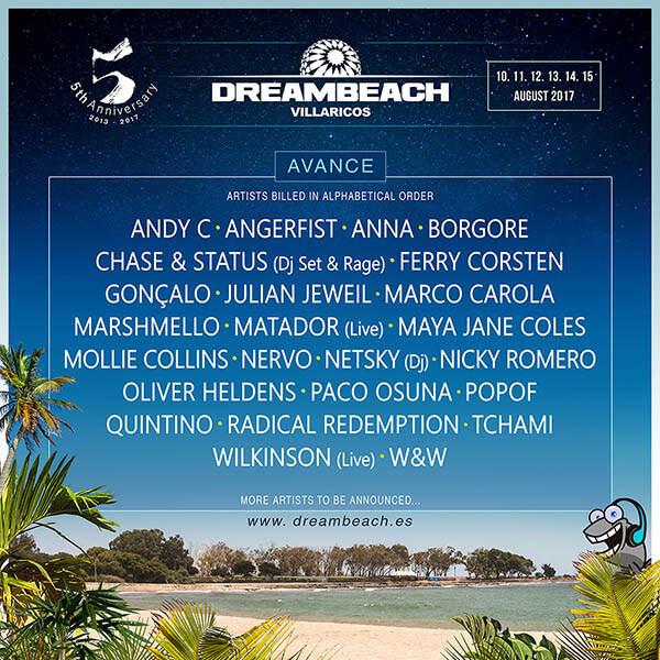 Dreambeach Villaricos 2017