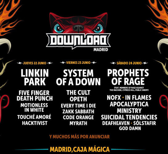 Cartel Download Festival 2017 Madrid