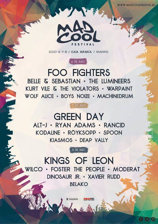 Mad Cool Festival 2017 - Cartel v2
