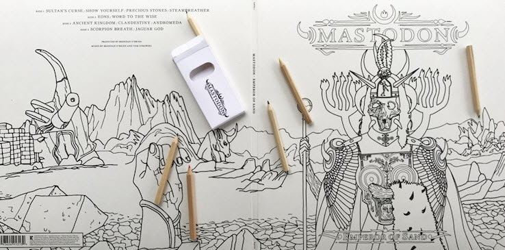 Mastodon - Emperor of Sand - Portada para colorear