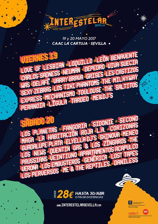 Cartel Interestelar Sevilla 2017