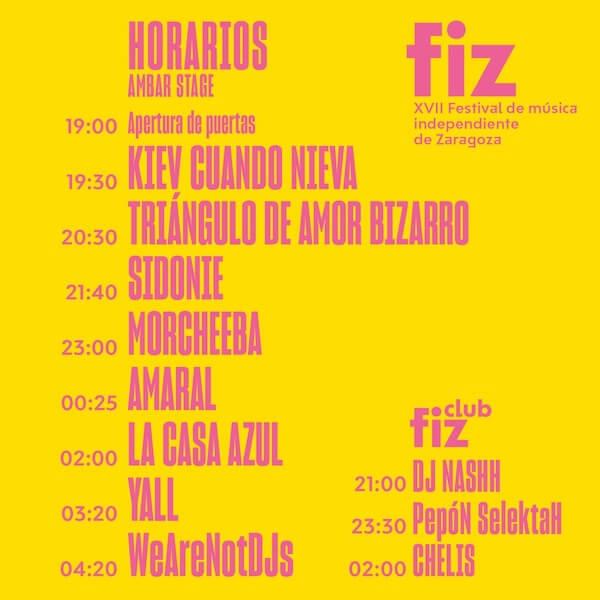 Horarios FIZ 2017
