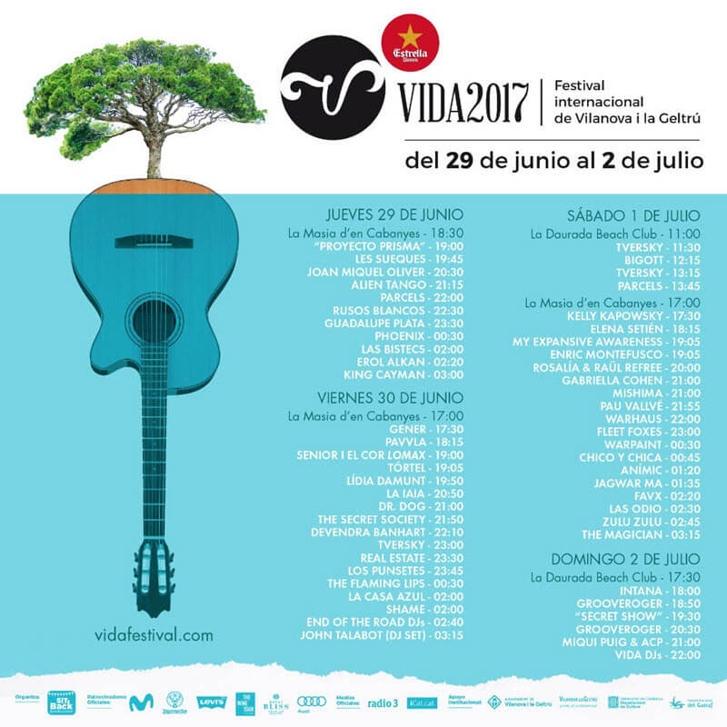 Horarios VIDA Festival 2017