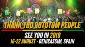 Rototom Sunsplash anuncia fechas para 2019, después de reunir a 208.000 asistentes