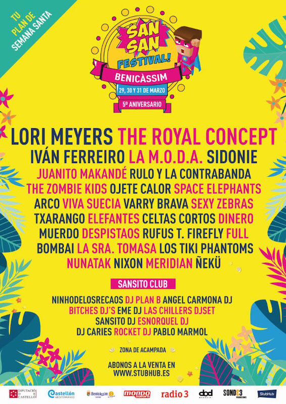 Sansan Festival 2018 - Cartel final