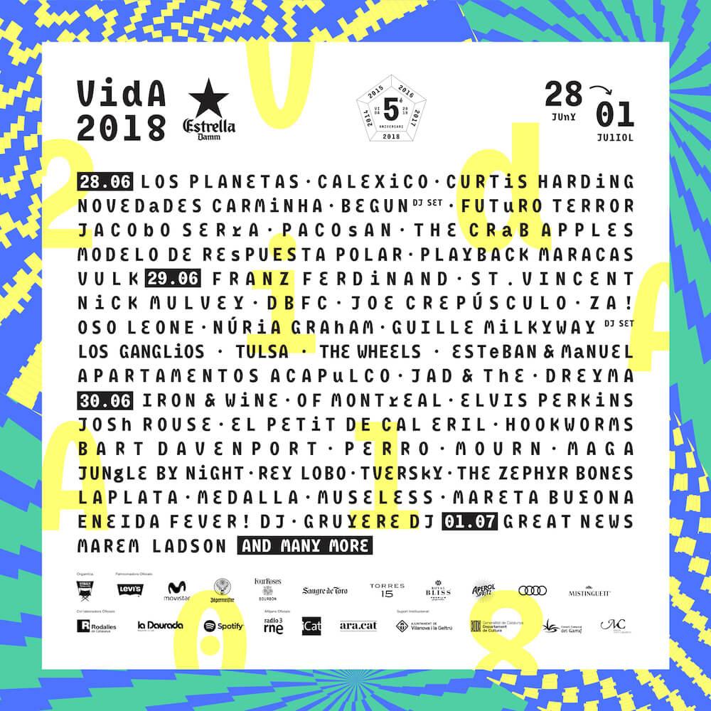 Cartel VIDA 2018