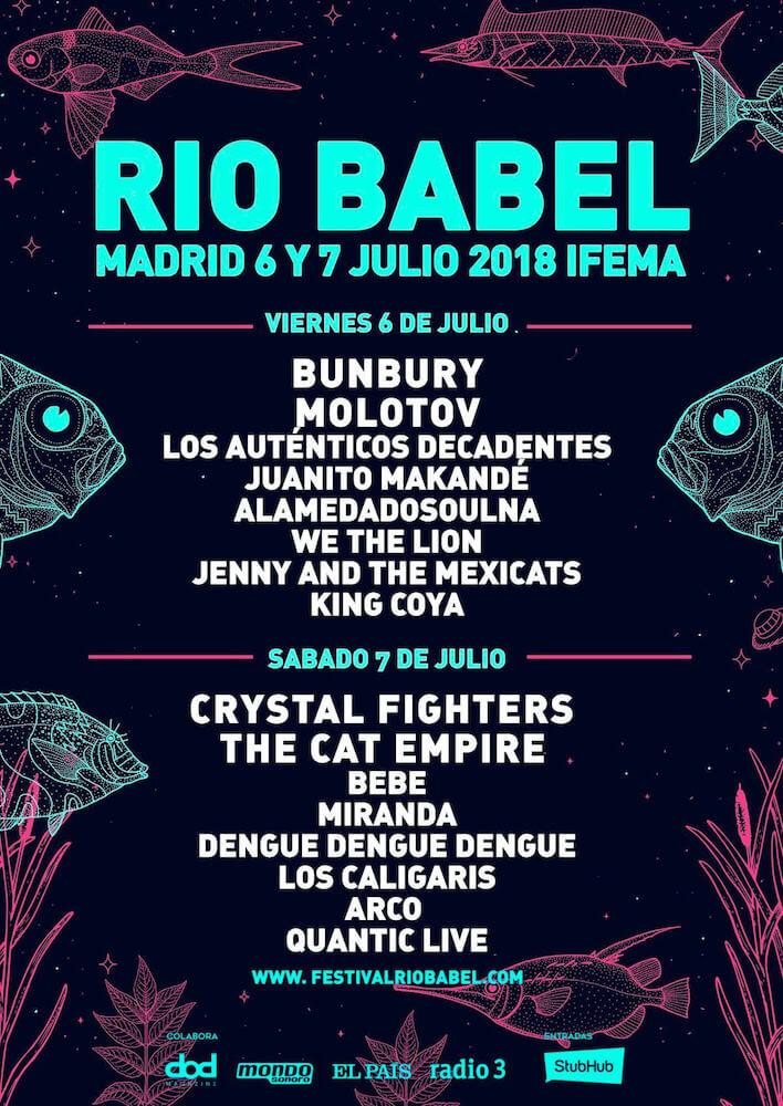 Cartel Río Babel 2018