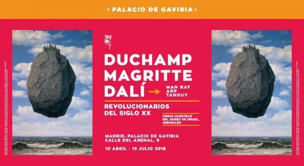 Exposición Dalí, Duchamp y Magritte en Madrid
