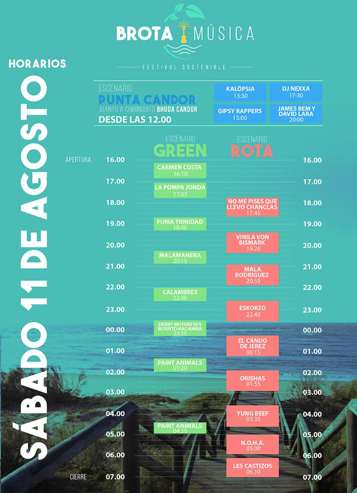 Horarios Brota Festival 2018
