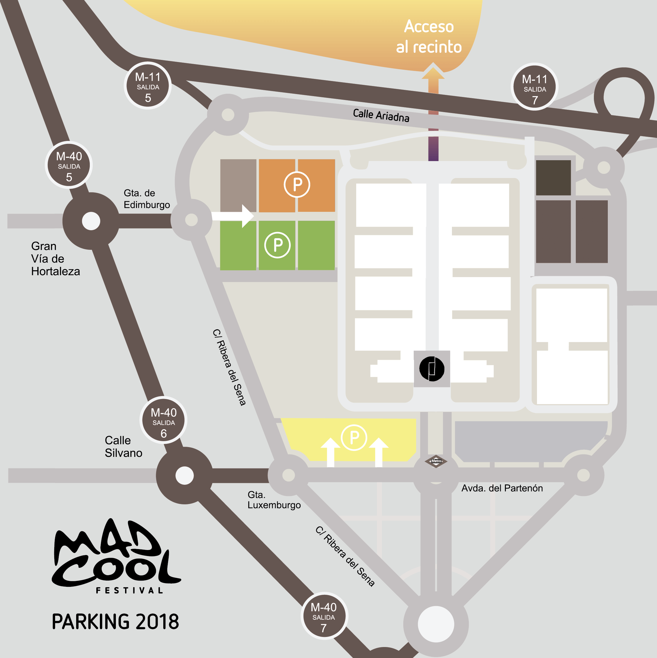 Parking del Mad Cool Festival 2018
