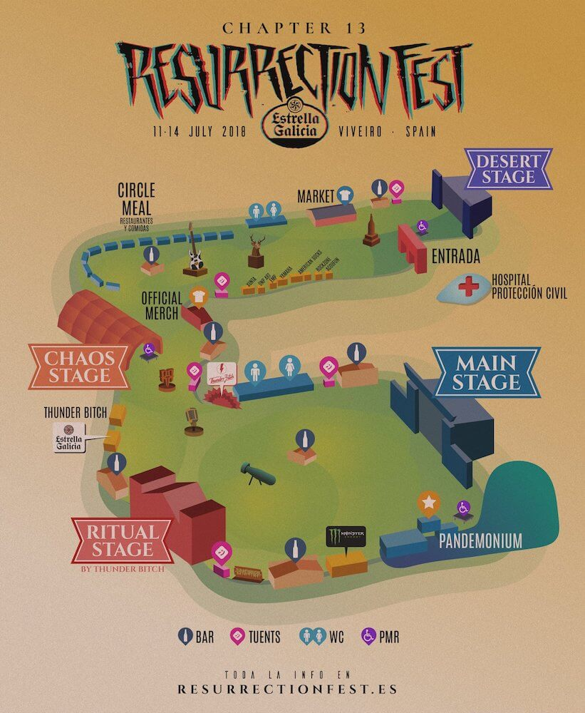 Mapa Resurrection Fest 2018