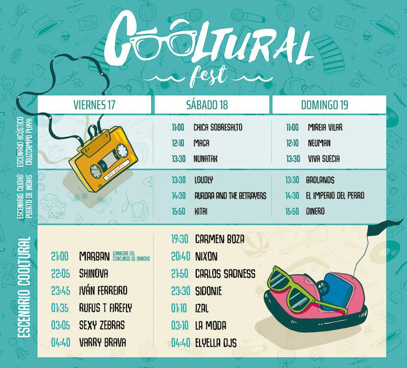 Horarios Cooltural Festival 2018