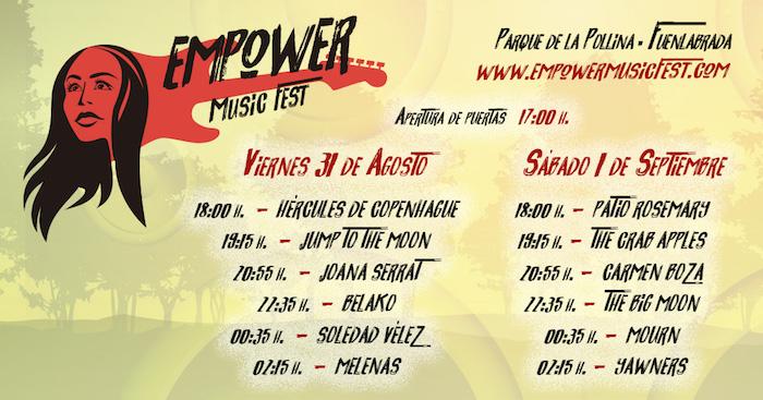 Horarios del Empower Music Fest 2018