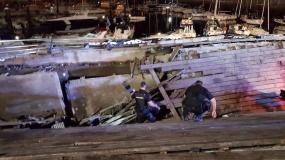 Cinco heridos graves al hundirse una plataforma durante el festival O Marisquiño de Vigo