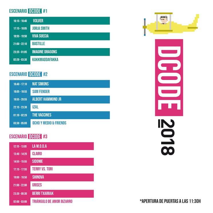Horarios DCODE 2018