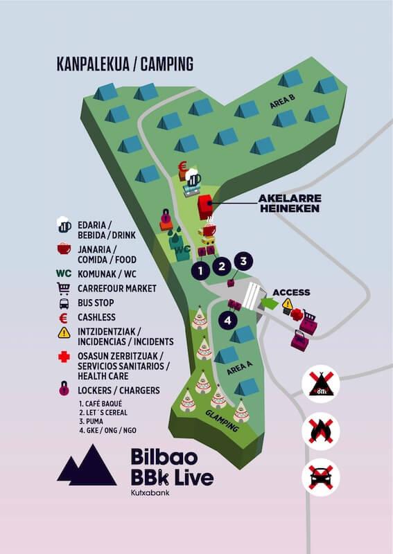 Guía Bilbao BBK Live - Camping