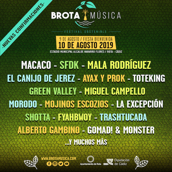 Cartel Brota Música 2019